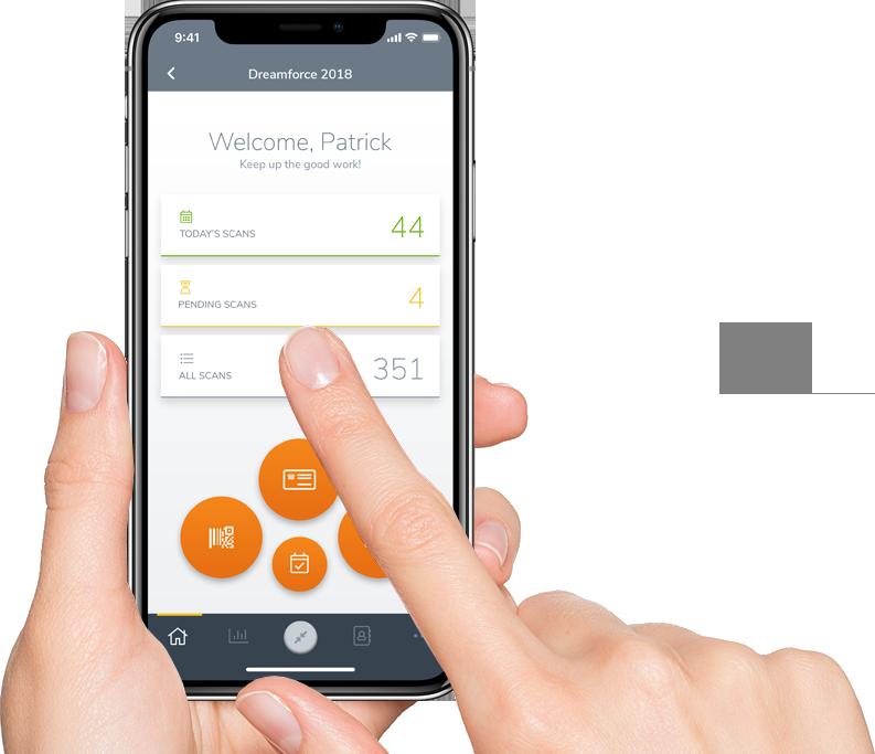 Mobile phone atEvent App